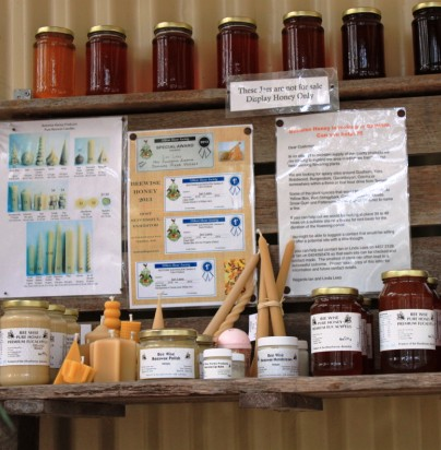 Honey display stand