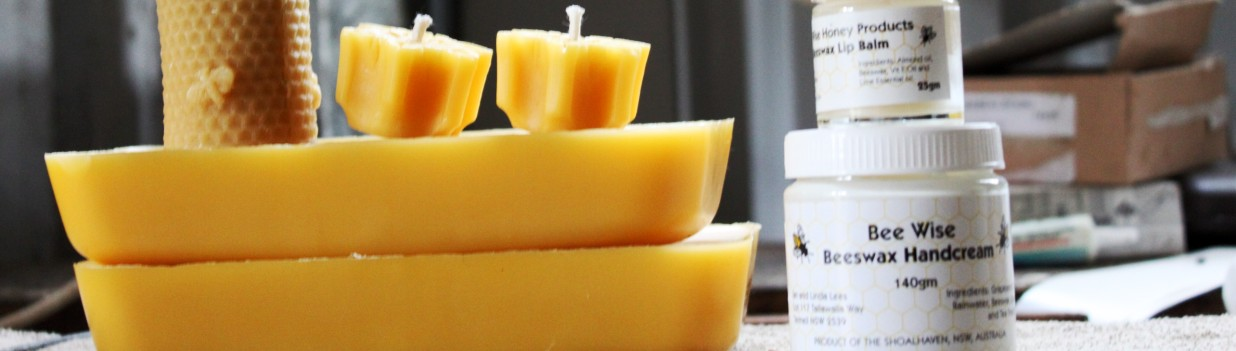 beeswax candles and handcream