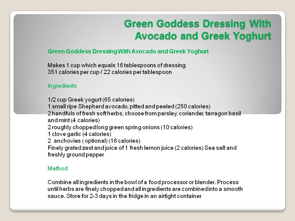 Green Goddess Dressing With