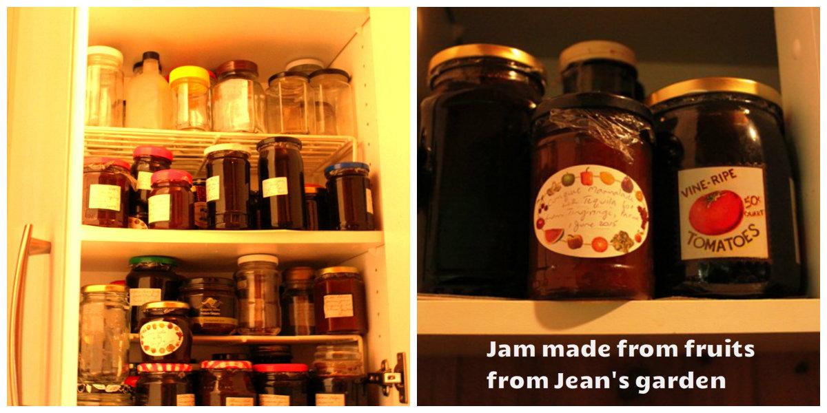 Jam in the larder