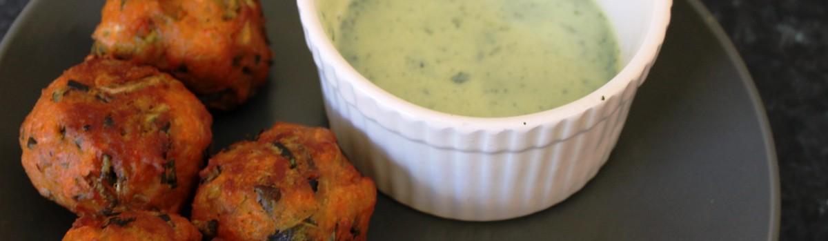 pakora with mint sauce