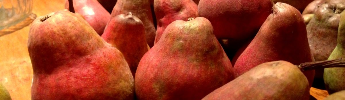 red sensation pears