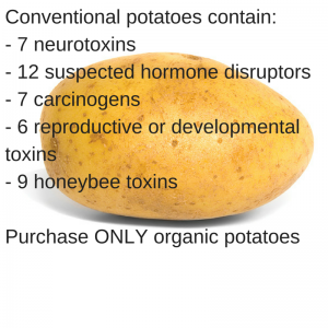 Consume organic potatoes