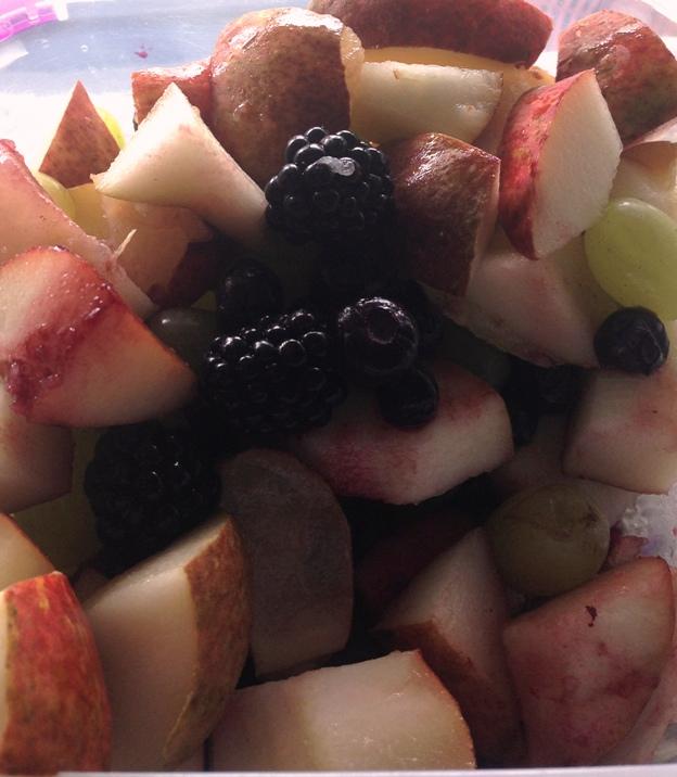 pears blackberries blueberries breakfast