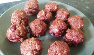 Cherry Chocolate Oats Bliss Balls