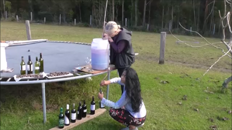 siphoning finished wine