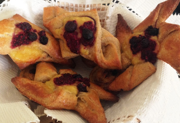 Danish Pastries Made With Hundred Percent Whole Wheat Flour